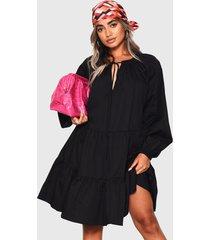 vestido glamorous negro - calce holgado