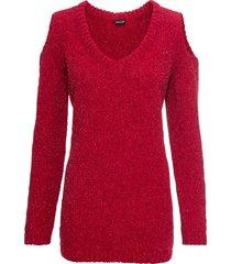 maglione in ciniglia con lurex (rosso) - bodyflirt