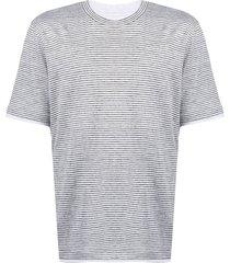brunello cucinelli horizontal stripe-print cotton t-shirt - grey