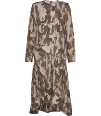 helina jurk knielengte bruin custommade