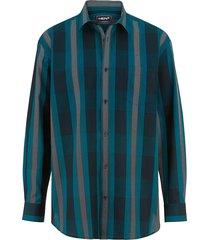overhemd men plus petrol::turquoise