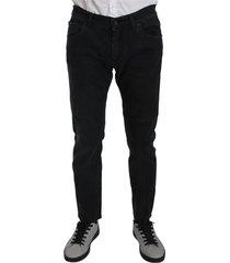 cotton slim fit gold jeans