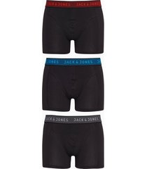 jack & jones jacwaistband trunks 3 pack noos boxershorts mörk grå