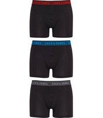 jack & jones jacwaistband trunks 3 pack noos boxershorts mörk grå