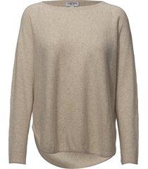 curved sweater stickad tröja creme davida cashmere