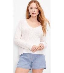 loft petite slouchy v-neck sweater