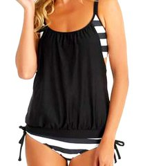 striped tankini swimsuit