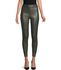rd style women's faux leather pants - olive - size s