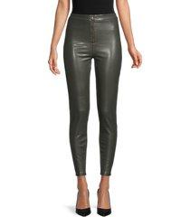 rd style women's faux leather pants - black - size l