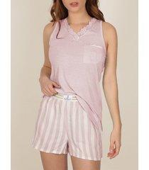 pyjama's / nachthemden admas pyjama shorts tank top classic stripes
