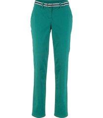 pantaloni elasticizzati con cintura (set 2 pezzi) (petrolio) - bpc bonprix collection