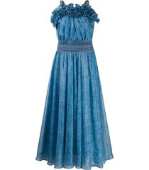 philosophy di lorenzo serafini long-line pleated dress - blue