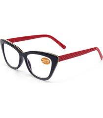 donna pc lente cornice nera fashion cute alta definizione cat eye reading occhiali