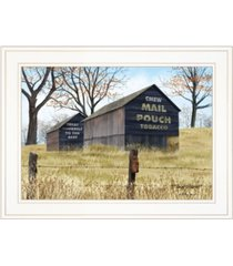 "trendy decor 4u treat yourself mail pouch barn by billy jacobs, ready to hang framed print, white frame, 19"" x 15"""