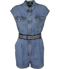 korte jumpsuit regular fit met riem