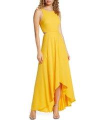 women's ali & jay cutout maxi dress, size x-small - yellow