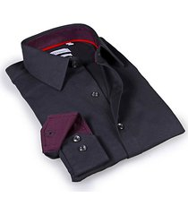 tailored-fit point-collar dress shirt
