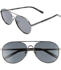 men's ted baker london 59mm aviator sunglasses - gunmetal