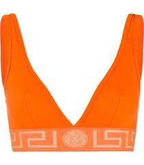 versace top esportivo greek key - laranja