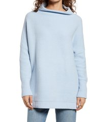 women's free people ottoman slouchy tunic, size small - blue