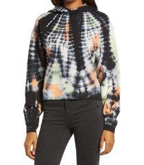 women's allsaints pippa tie dye hooded sweatshirt