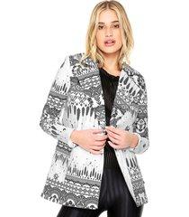casaco sarja my favorite thing(s) com botã£o branco - branco - feminino - dafiti
