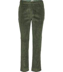 lilly cord trousers byxa med raka ben grön twist & tango
