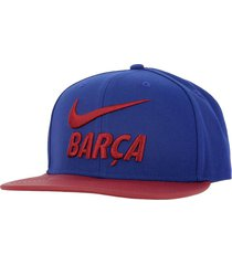 gorra nike fc barcelona-azul con rojo