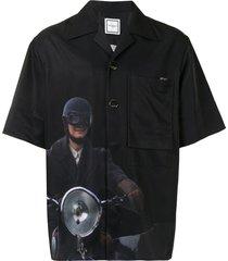 wooyoungmi motorcycle-print shirt - black