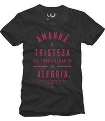 camiseta alegria reserva preto - preto - masculino - dafiti