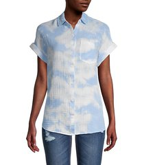 alia tie-dye cotton shirt