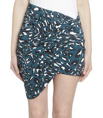 microcrystal ruched mini skirt