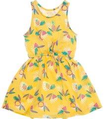 vestido manga sisa amarillo  offcorss