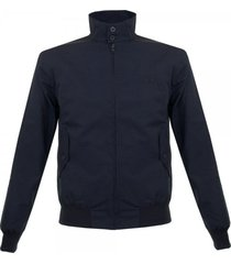 fred perry navy harrington made in england jacket