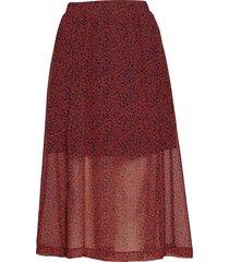cherry skirt knälång kjol röd just female