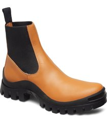 catania terra vacchetta shoes boots ankle boots ankle boots flat heel orange atp atelier