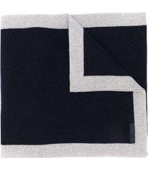 eredi chiarini two-tone knit scarf - blue