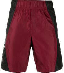 off-white two-tone bermuda shorts - red