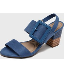 sandalia azul beira rio