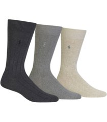 polo ralph lauren 3 pack cotton rib casual men's socks