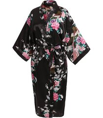 elegant satin silk women's kimono robe for parties bridal and bridesmaid wedding