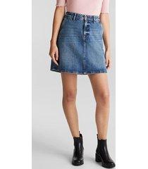 falda mini denim azul esprit