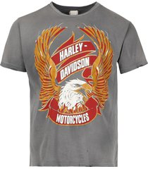 harley davidson t-shirt charcoal fade
