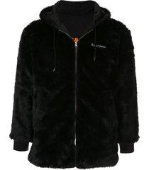 supreme reversible sherpa work jacket - black