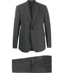 emporio armani formal suit set - grey