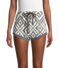 free people movement women's where the wind blows shorts - jacquard - size m