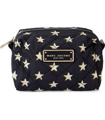 marc jacobs women's large star-print quilted cosmetic bag - black cherry