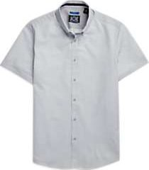 joe joseph abboud repreve® gray cross dots short sleeve sport shirt