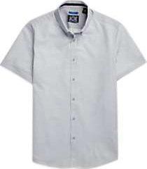 joe joseph abboud repreve® gray cross dots short sleeve sport shirt