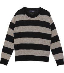 colourblock stripe sweater